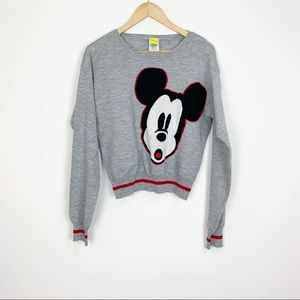 Disney Mickey Mouse Gray Sweater Size Large